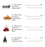 Canadian Statutory Holiday's Lesson