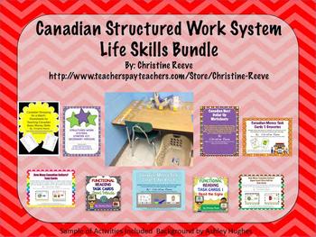 Canadian Structured Work System Secondary Starter Bundle: Life Skills - Autism