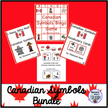 Canadian Symbols Activities bundle