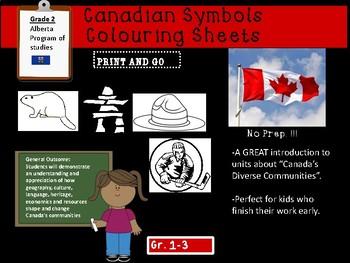 Canadian Symbols Coloring Sheets