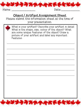Canadian Symbols and Artifacts Presentation- Alberta Grade 2 Social Studies