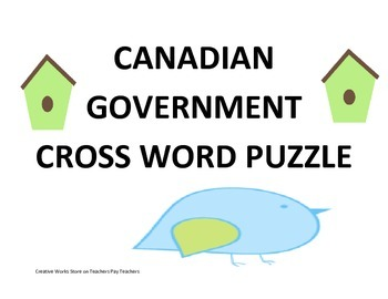 Canadian System of Government Puzzle
