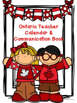 Canadian Teacher Calendar and Communication Book