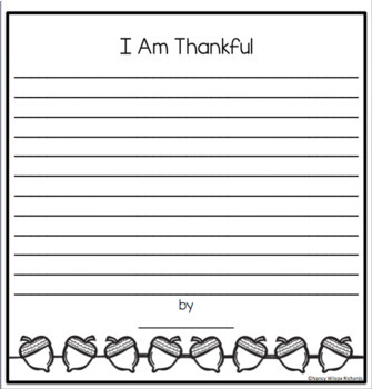 Canadian Thanksgiving Craftivity K-3 No Prep