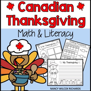 Canadian Thanksgiving Math and Literacy Activities   K-3