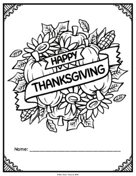 Canadian Thanksgiving Math and Literacy Booklet! (NO PREP)
