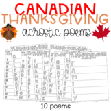 Canadian Thanksgiving Poetry