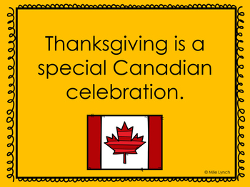 Canadian Thanksgiving PowerPoint English