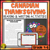 Canadian Thanksgiving Reading & Writing Activities
