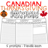 Canadian Thanksgiving Writing