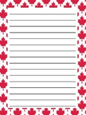 Canadian Themed Writing Paper *Freebie*