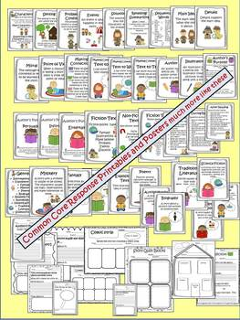 Canadian Version Common Core Reading Response Printables Fiction & Non-Fiction