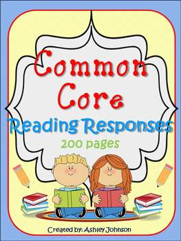 Canadian Version Common Core Reading Response Printables F