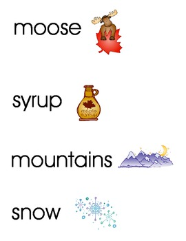 Canadian Words/Pictures