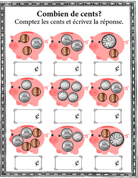 Canadian cents taught in French  - Les pièces d'argent canadiennes