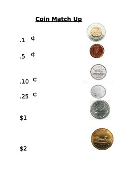 Canadian coin match up