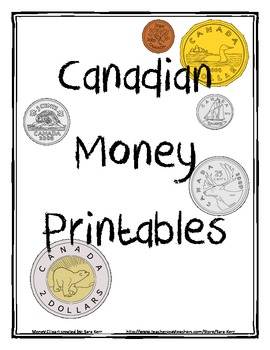 canadian money printables and workbook by 4 by 4 math and. Black Bedroom Furniture Sets. Home Design Ideas