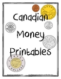Canadian money printables and workbook!