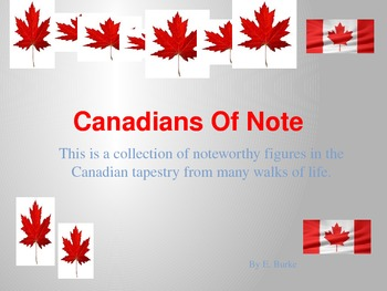 Canadians Of Note