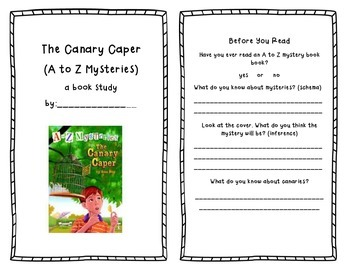 Canary Caper (A to Z Mysteries) Book Study