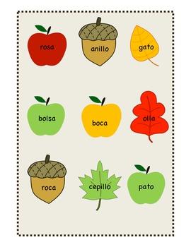 Canastas de Rimas (Baskets of Rhyming Words) SPANISH