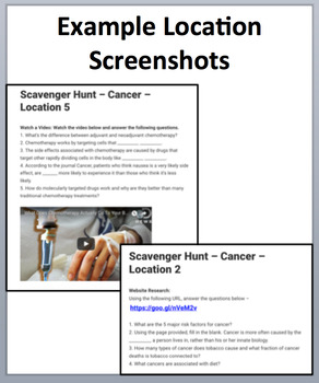 Cancer – A Device-Based Scavenger Hunt Activity