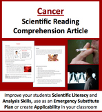 Cancer - A Science Reading Comprehension Article- Grade 8 and above