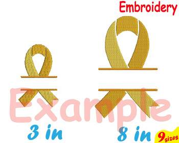Cancer Awareness Ribbon Embroidery Machine digital 4x4 5x7 hoop Stiches 88b