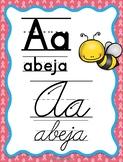Cancer Awareness - Spanish Alphabet Posters (Abecedario Manuscrito y Cursivo)