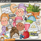 """Cancer Clip Art: """"Beth's Belief"""""""
