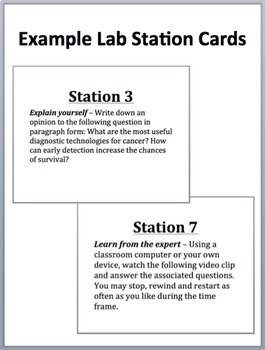 Cancer Lab Station Bundle: Volumes I and II - 2 X 7 Engaging Lab Stations