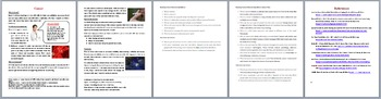 Cancer - Scientific Reading Comprehension Article – Grades 5-7