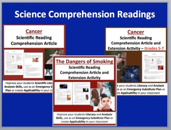 Cancer and Smoking - Lesson, Lab Stations, Readings and Activity Bundle
