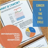 Cell Cycle and Cancer Worksheet Packet.  Digital and Print.  Distance Learning.