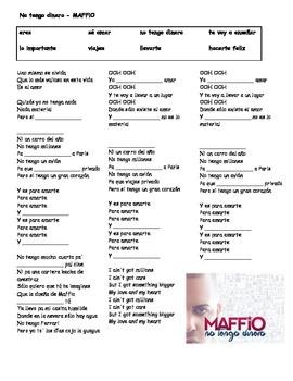 Canción - No tengo dinero por MAFFiO