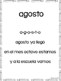 Cancion de agosto | August Calendar Song in Spanish {Dual Language}