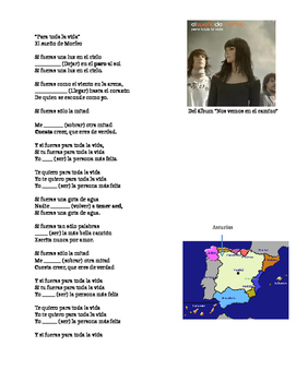 Canción en el Condicional. Song Conditional Tense. Spain.