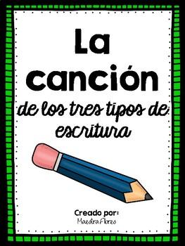 Canción escritura/ Spanish Song on Writing