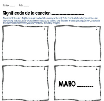La Camisa Negra Por Juanes Spanish Song Cloze Activity Present Tense Verbs