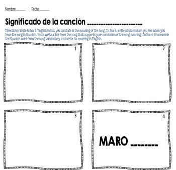 La Camisa Negra Por Juanes Spanish Song Cloze Activity Present Tense