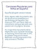 Canciones Populares en Español/ Popular songs for children
