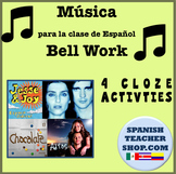 Canciones Songs for Spanish Bell Work