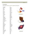 Cognados - Paralbras similares en otros idiomas
