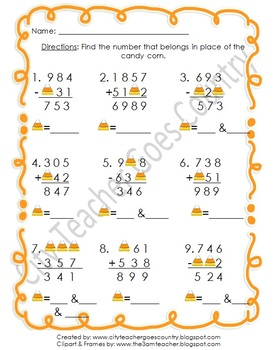 Candy Corn Themed Centers & Worksheets (Reading, Math, Writing)