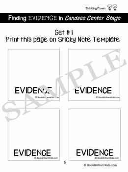 Candace Center Stage Reading Response BUNDLE