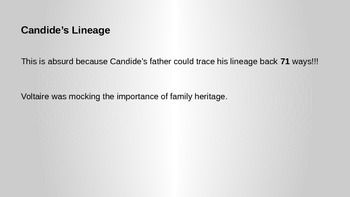 Candide Discussion Questions and Explanation