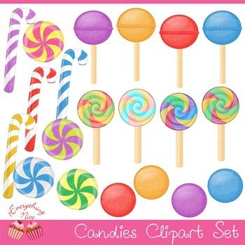 Candies Clipart Set