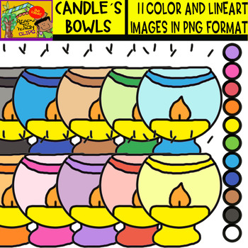 Candle´s Bowls - Cliparts Set - 11 Items