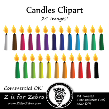 Candles Clip Art - CU Ok { Z is for Zebra }