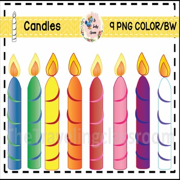 Candles Clip Art (Commercial Use)